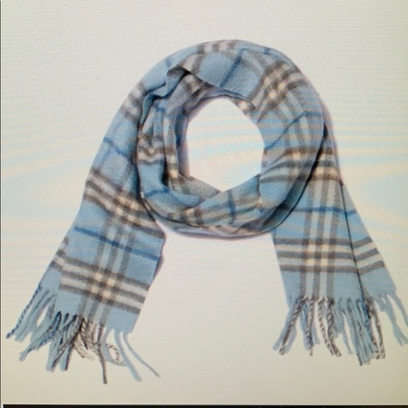 Burberry blue scarf.
